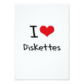 Amo los disquetes invitación 12,7 x 17,8 cm