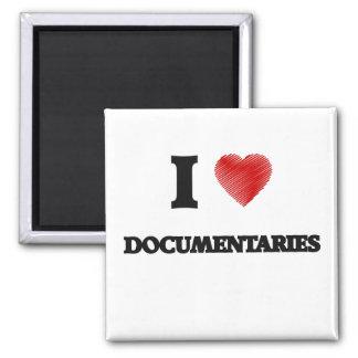 Amo los documentales imán cuadrado