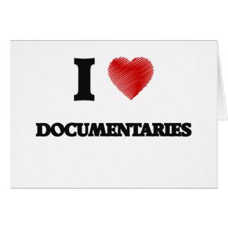 Amo los documentales tarjeta de felicitación
