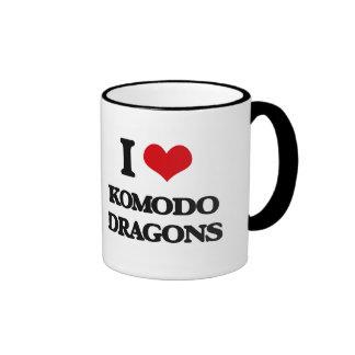 Amo los dragones de Komodo Tazas De Café
