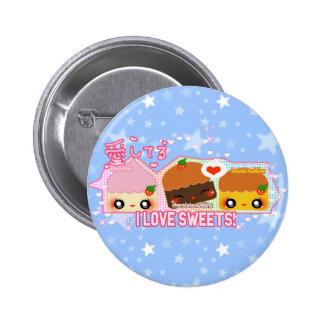 ¡Amo los dulces! Pin Redondo 5 Cm