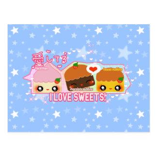 ¡Amo los dulces! Postales