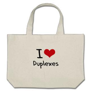 Amo los duplex bolsas de mano