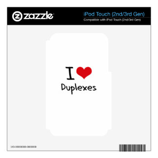 Amo los duplex iPod touch 3G calcomanías