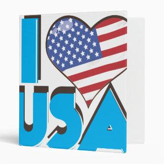 "Amo los E.E.U.U. 80s retro Carpeta 1"""