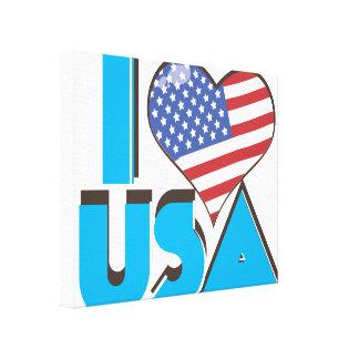 Amo los E.E.U.U. 80s retro Impresion En Lona
