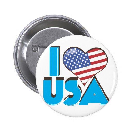 Amo los E.E.U.U. 80s retro Pin