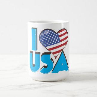 Amo los E.E.U.U. 80s retro Taza De Café