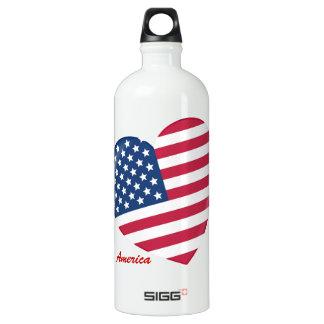 Amo los E.E.U.U. - corazón del americano Botella De Agua