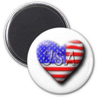 Amo Los E.E.U.U. Imán Redondo 5 Cm