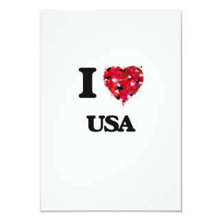 """Amo los E.E.U.U. Invitación 3.5"""" X 5"""""""