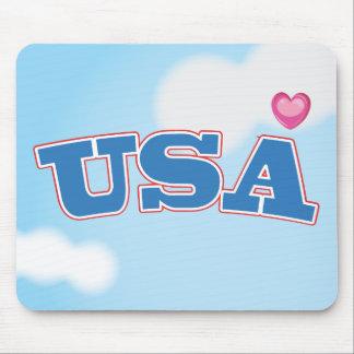 Amo los E.E.U.U. Tapete De Ratones