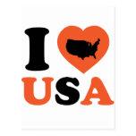 Amo los E.E.U.U. Tarjetas Postales