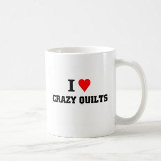Amo los edredones locos taza