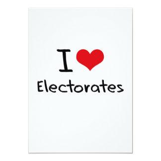 """Amo los electorados invitación 5"""" x 7"""""""