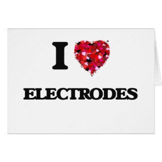 Amo los ELECTRODOS Tarjeta De Felicitación