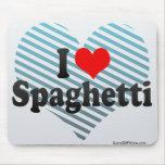 Amo los espaguetis alfombrillas de ratones