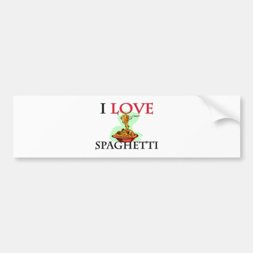 Amo los espaguetis etiqueta de parachoque