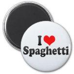 Amo los espaguetis imán de nevera