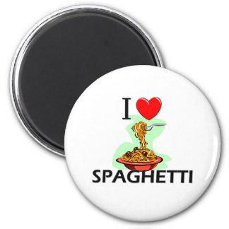 Amo los espaguetis imán redondo 5 cm