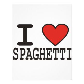 Amo los espaguetis plantillas de membrete