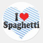 Amo los espaguetis pegatinas redondas