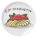 Amo los espaguetis plato