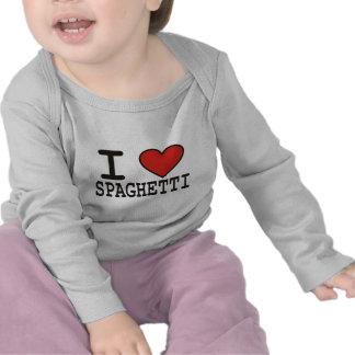 Amo los espaguetis camiseta