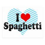 Amo los espaguetis postales