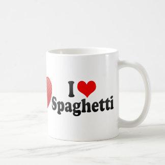 Amo los espaguetis taza básica blanca
