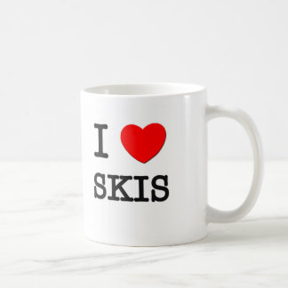 Amo los esquís taza