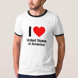 amo los Estados Unidos de América Playera