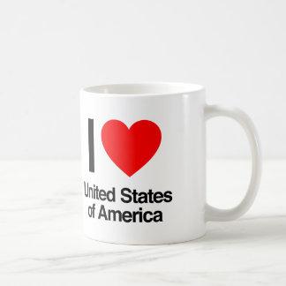 amo los Estados Unidos de América Taza Clásica