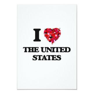 """Amo los Estados Unidos Invitación 3.5"""" X 5"""""""