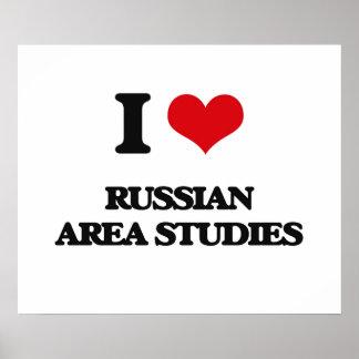 Amo los estudios rusos del área póster