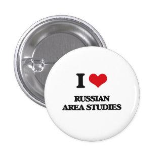 Amo los estudios rusos del área pin redondo 2,5 cm