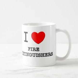 Amo los extintores taza básica blanca