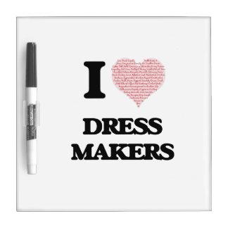 Amo los fabricantes del vestido (el corazón hecho pizarra
