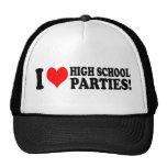 Amo los fiestas de la High School secundaria Gorra