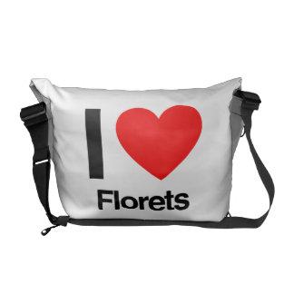 amo los floretes bolsa de mensajeria