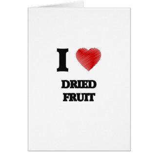 Amo los frutos secos tarjeta de felicitación