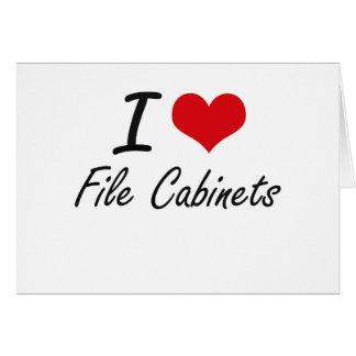 Amo los gabinetes de fichero tarjeta pequeña