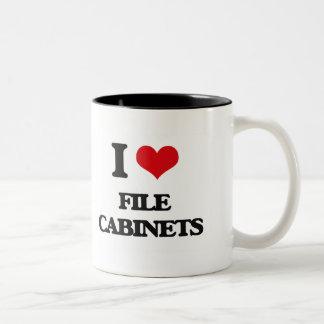 Amo los gabinetes de fichero taza dos tonos