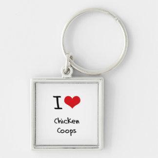 Amo los gallineros de pollo llavero