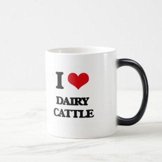 Amo los ganados lecheros taza mágica