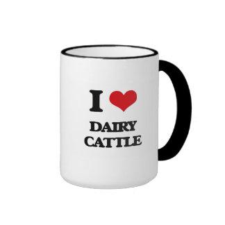 Amo los ganados lecheros taza a dos colores