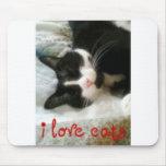 Amo los gatos Mousepad Alfombrillas De Ratón