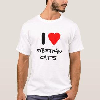 Amo los gatos siberianos playera