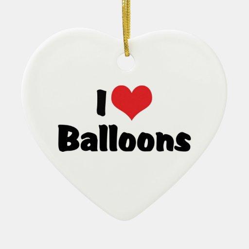 Amo los globos adornos de navidad