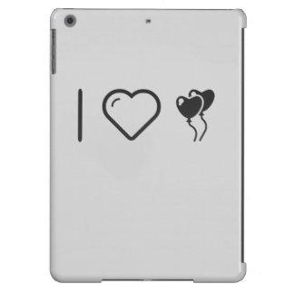 Amo los globos de Hearshaped Funda Para iPad Air